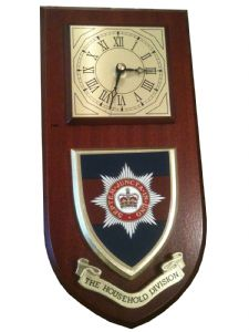 Household Division Regimental Wall Plaque Clock